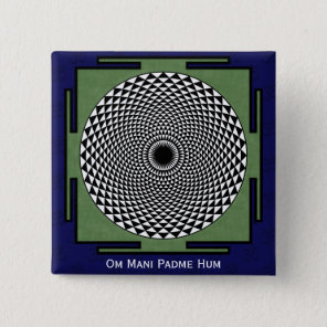 prayer mandala Om Mani Padme Hum Button