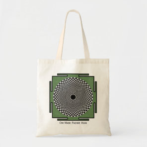 prayer mandala Om Mani Padme Hum Tote Bag