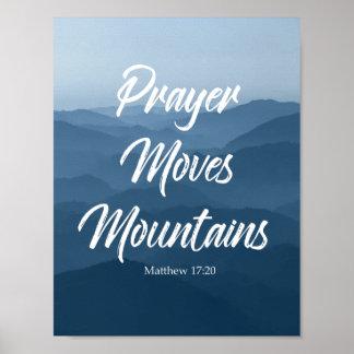 PRAYER MOVES MOUNTAINS WALL ART