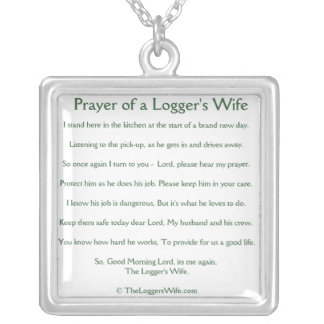 Prayer of a Logger's Wife Necklace