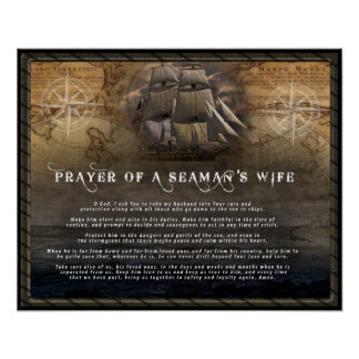 Prayer of a Seaman's wife Poster