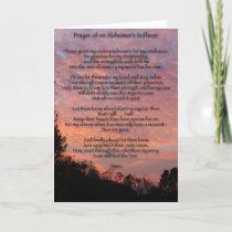 Prayer of Alzheimer's Sufferer Card