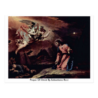 Prayer Of Christ By Sebastiano Ricci Postcard