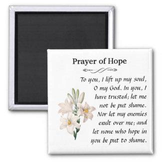 Prayer of Hope 2 Inch Square Magnet