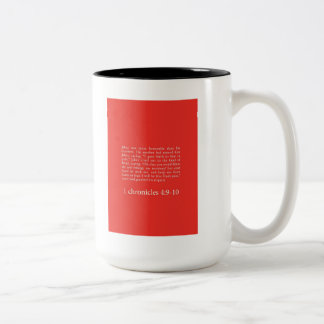 """Prayer Of Jabez"" Two-Tone Coffee Mug"