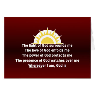 Prayer of Protection Greeting Card