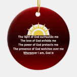 Prayer of Protection Christmas Ornament
