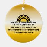 Prayer of Protection Christmas Ornaments