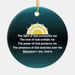 Prayer of Protection Christmas Tree Ornaments