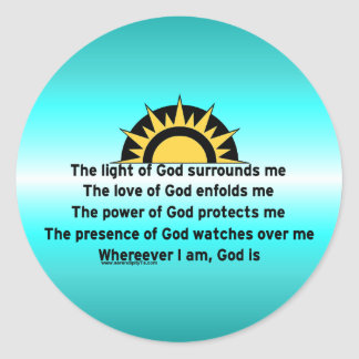 Prayer of Protection Classic Round Sticker