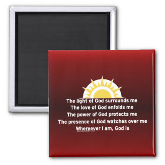 Prayer of Protection 2 Inch Square Magnet