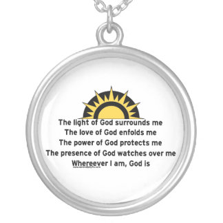 Prayer of Protection Round Pendant Necklace