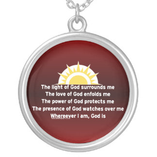 Prayer of Protection Silver Plated Necklace