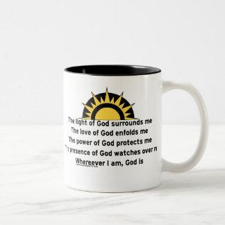 Prayer of Protection Two-Tone Coffee Mug