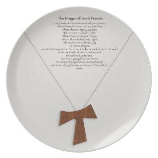 Prayer of Saint Francis Dinner Plate