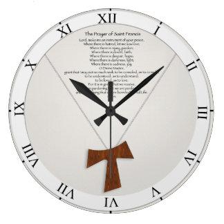 Prayer of Saint Francis Large Clock
