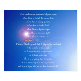 Prayer of Saint Francis Poster Photo Print