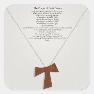 Prayer of Saint Francis Square Sticker