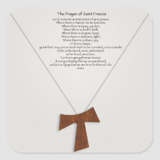 Prayer of Saint Francis Square Stickers