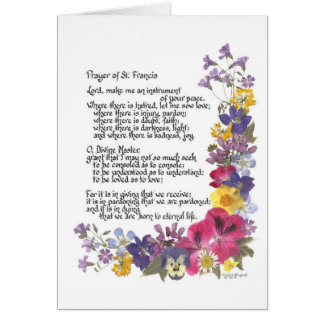 Prayer of St. Francis Card