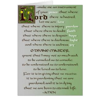 Prayer of St Francis Catholic Card