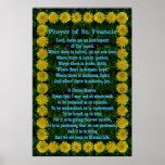 Prayer of St Francis in a Dandelion Frame Poster