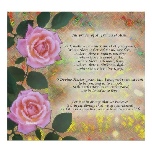 Prayer of St. Francis of Assisi Posters