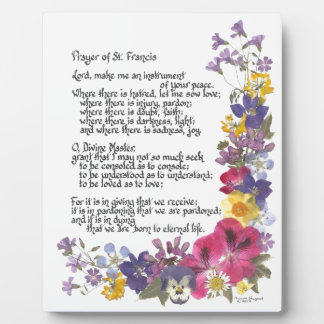 Prayer of St. Francis Plaque