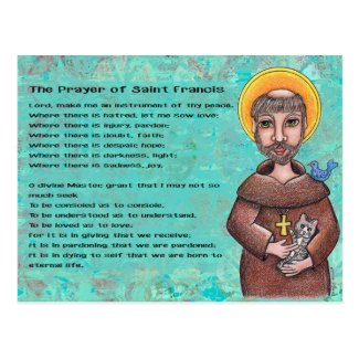 Prayer of St. Francis Postcard
