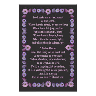 PRAYER OF ST FRANCIS POSTER
