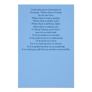 Prayer of St. Francis Poster