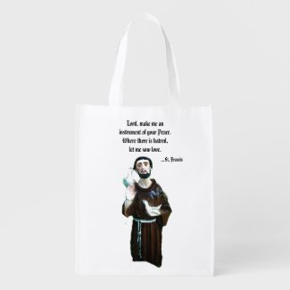 Prayer of St. Francis Reusable Tote