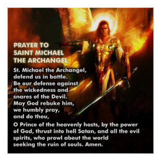 Prayer of St. Michael Poster
