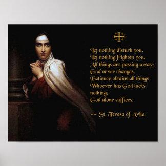 Prayer of St. Teresa of Avila Poster