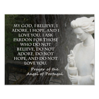 Prayer of The Angel of Portugal. Poster