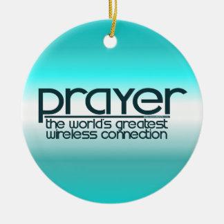 PRAYER Double-Sided CERAMIC ROUND CHRISTMAS ORNAMENT