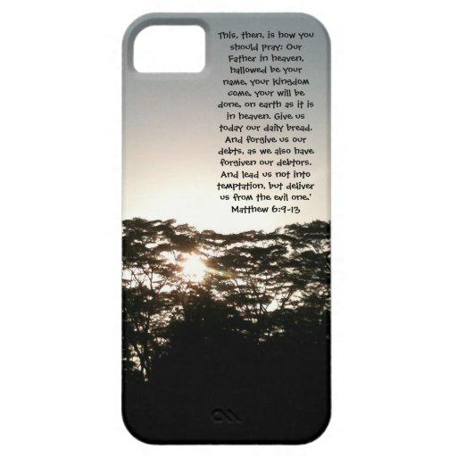 Prayer Phone Casing del señor iPhone 5 Carcasa