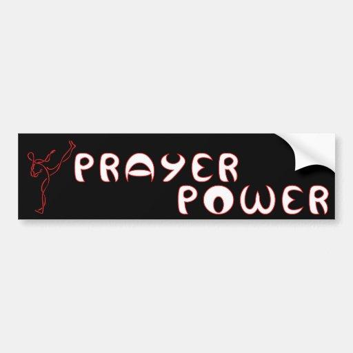 Prayer Power Christian bumper sticker