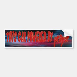Prayer Power  Fuel Bumper Sticker