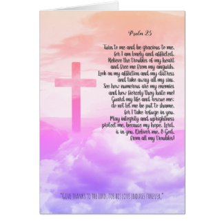 Prayer, psalm 25 personalised christian card