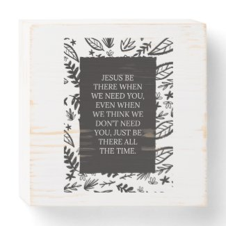 Prayer Quote Decor Wooden Box Sign