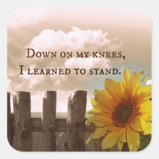 Prayer Quote Square Sticker