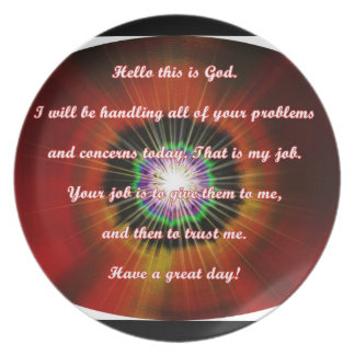 Prayer quotes sign Plate