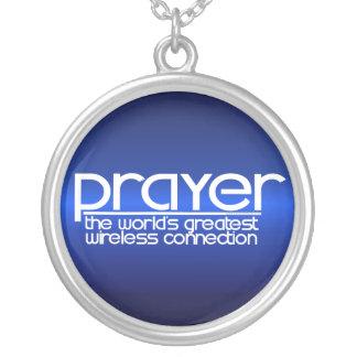 PRAYER ROUND PENDANT NECKLACE