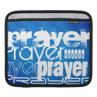 Prayer; Royal Blue Stripes iPad Sleeve