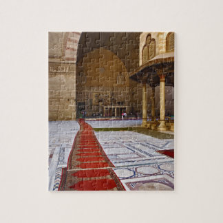 Prayer rugs leading into Islamic mosque, Cairo, Jigsaw Puzzle