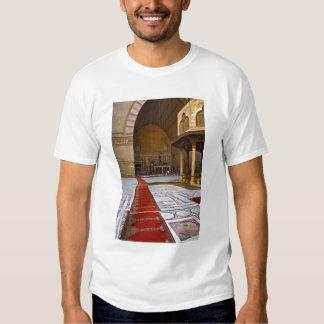 Prayer rugs leading into Islamic mosque, Cairo, T-Shirt