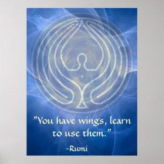Prayer Rumi and Poetic Art Poster