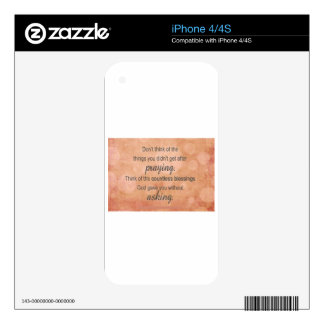 Prayer Decals For iPhone 4S