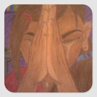 prayer square sticker